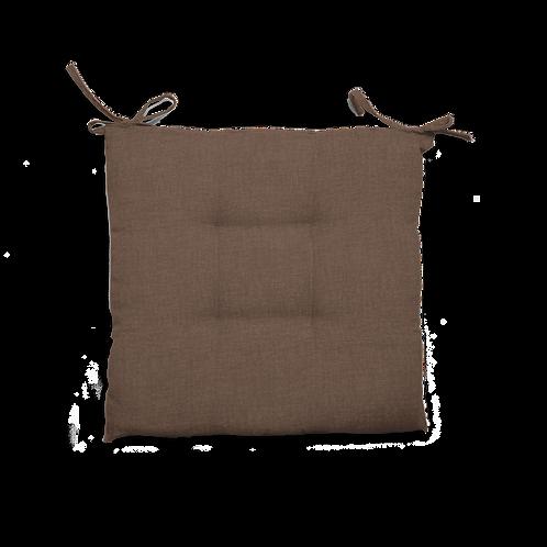 Cuscino Creta trapuntato marrone