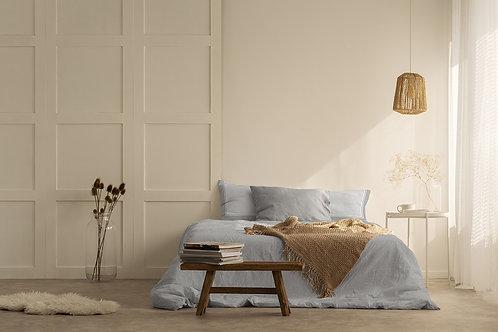 Completo letto in cotone grigio