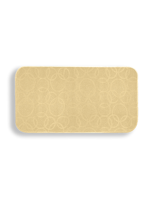 Tappeto da cucina jacquard beige