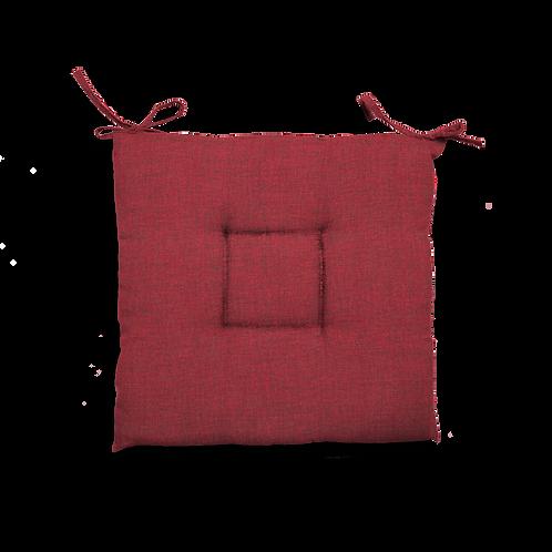 Cuscino Creta trapuntato rosso