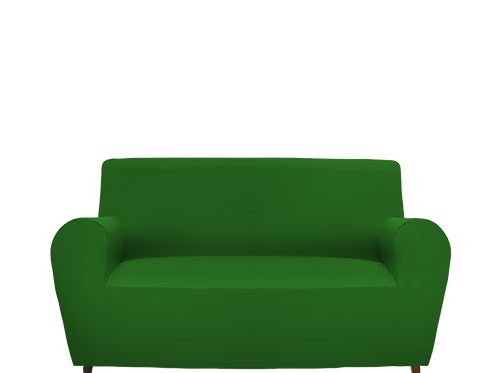 Copridivano elasticizzato verde