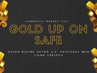 Gold up on safe-haven buying after U.S. proposes new China tariffs