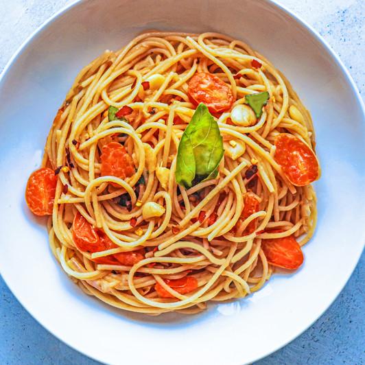 Tomato Basil Spaghetti