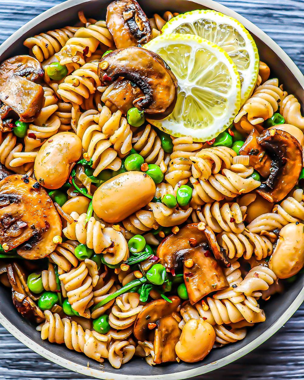 Butter Bean & Mushroom Pasta