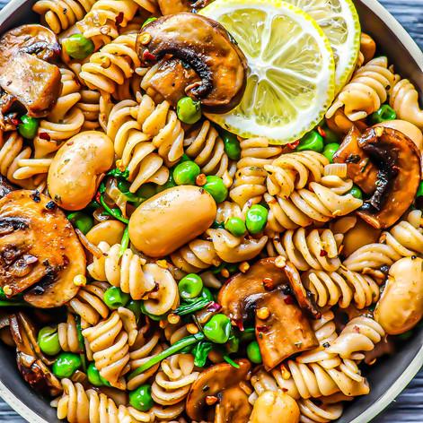 Mushroom & Butter Bean Pasta