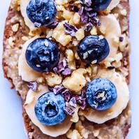 Blueberry Banana Walnut Toast