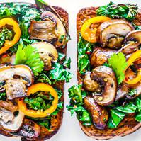 Mushroom & Kale Toast