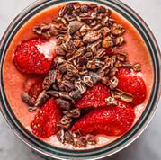 Strawberry Flax Smoothie