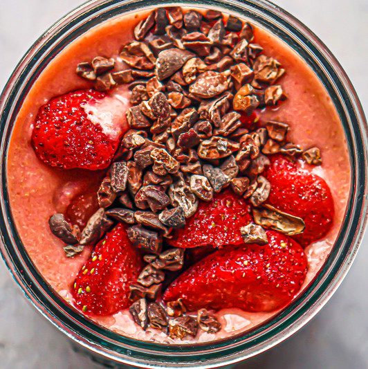 Strawberry Flax Smoothie