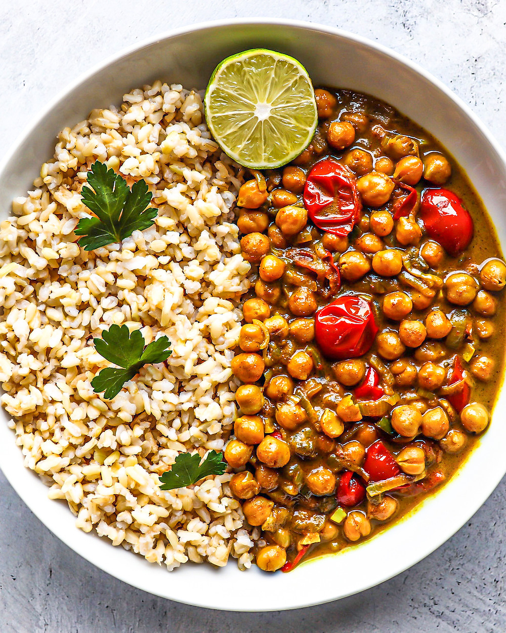 Spicy Chickpea & Tomato Curry - gluten free