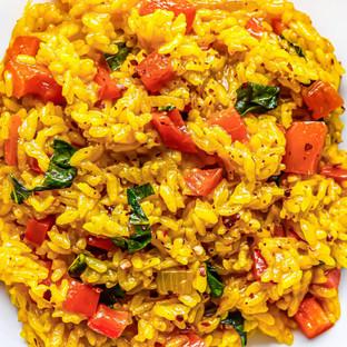 Turmeric Basil Rice