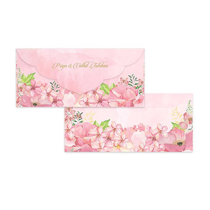 Painted Floral Money Envelopes (Set of 20) - Pink/Mint