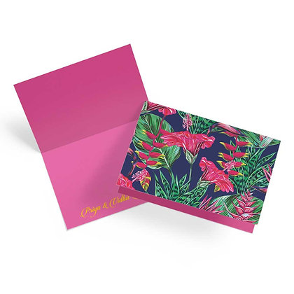 Exotic Floral Fold Cards (Set of 20)