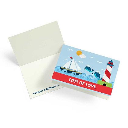 Ships Ahoy Fold Cards (Set of 20)