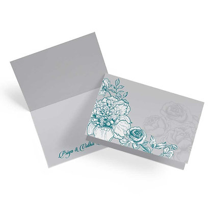 Floral Dream Fold Cards With Envelopes