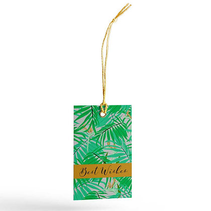 Exotic Palm (Silver) Gift Tags (Set of 20)
