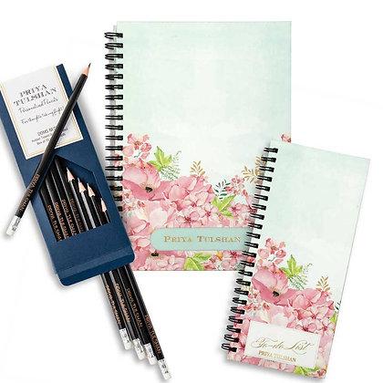 Desk Essentials Box-Painted Floral