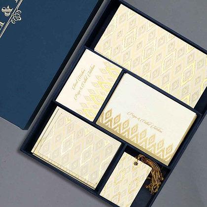 Ikat Luxury Box - Grey/Pink/Sand/Cream