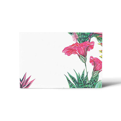 Exotic Floral Flat Cards (Set of 40)