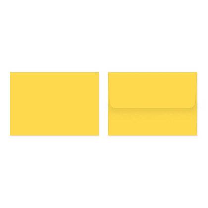 Fold Cards Envelopes (Set of 10) - Yellow