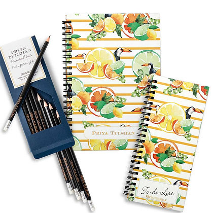 Desk Essentials Box-Citrus Summer