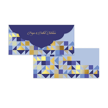 Peach Geometric Money Envelopes (Set of 20)