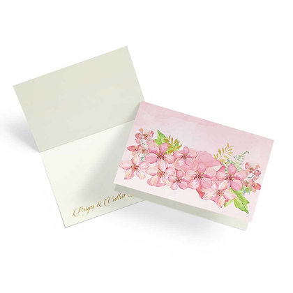 Painted Floral Fold Cards (Set of 20)