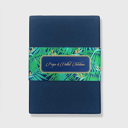 Exotic Palm (Navy) Mini Box