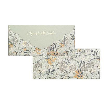 Mystical Garden Money Envelopes (Set of 20) - Olive/Blue