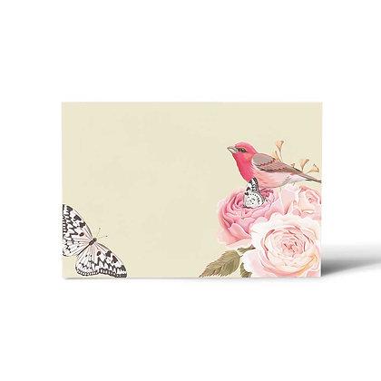 Vintage Floral Flat Cards (Set of 40)
