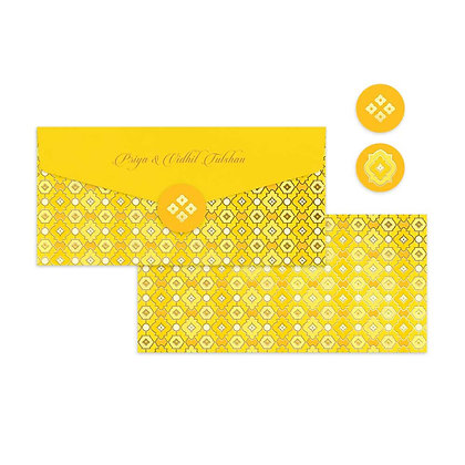 Canary Jaal Money Envelopes (Set of 20)