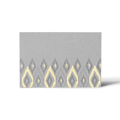 Ikat Flat Cards (Set of 40) - Grey/Pink/Sand/Cream