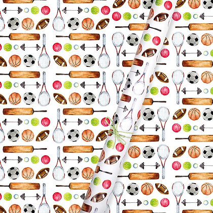 Game On Wrapping Paper (Set of 5)
