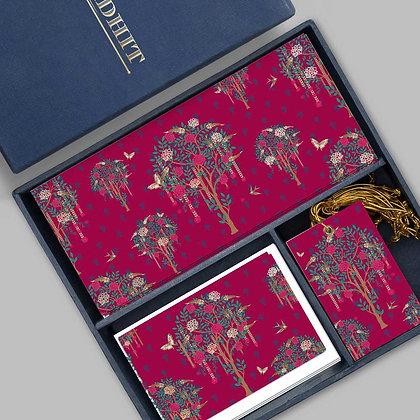 Bageecha Midi Box-Pink/Navy