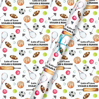 Game On Personalised Wrapping Paper (Set of 30)
