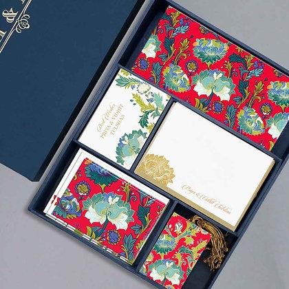 Paisley Luxury Box - Red/Purple/Navy/Grey