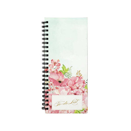 Painted Floral To-Do Notebook