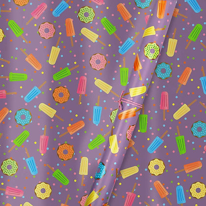 Lollies & Doughnuts Wrapping Paper (Set of 5)