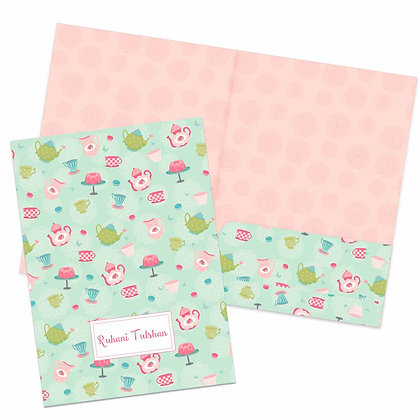 Tea Party Folders (Set of 2)