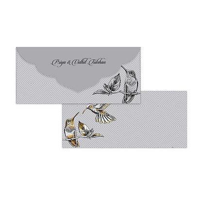 Kingfisher Money Envelopes (Set of 20) - Silver/Gold