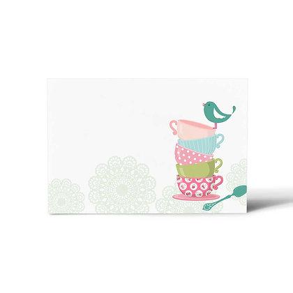 Tea Party Flat Cards (Set of 40)