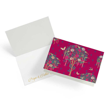 Bageecha Pink Fold Cards (Set of 20)