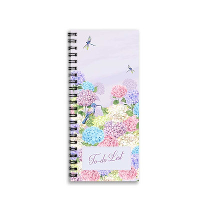 Hydrangeas To-Do Notebook