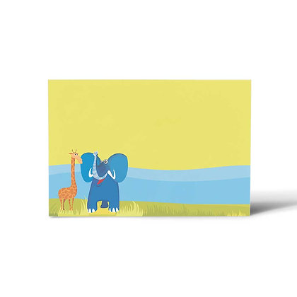 Jungle Animals Flat Cards (Set of 40)