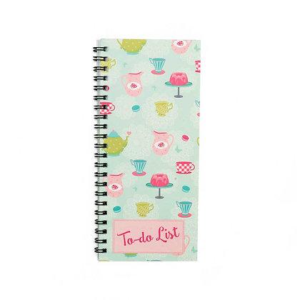 Tea Party To-Do Notebook
