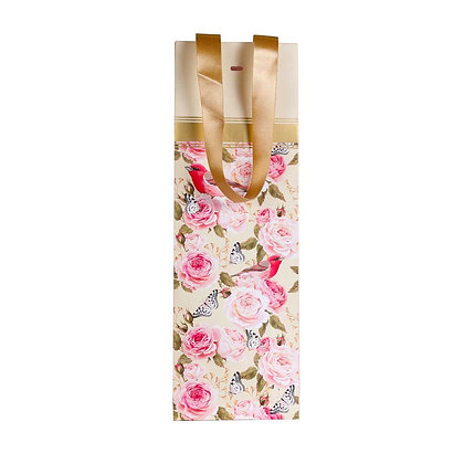 Vintage Floral Wine Bags (Set of 3)