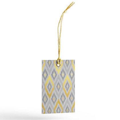 Ikat Gift Tags (Set of 20) - Grey/Pink/Cream/Sand