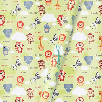Baby Animals Wrapping Paper (Set of 5)
