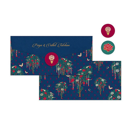 Bageecha Navy Money Envelopes (Set of 20)