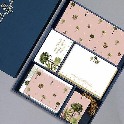 Palms Luxury Box-Peach/Turquoise